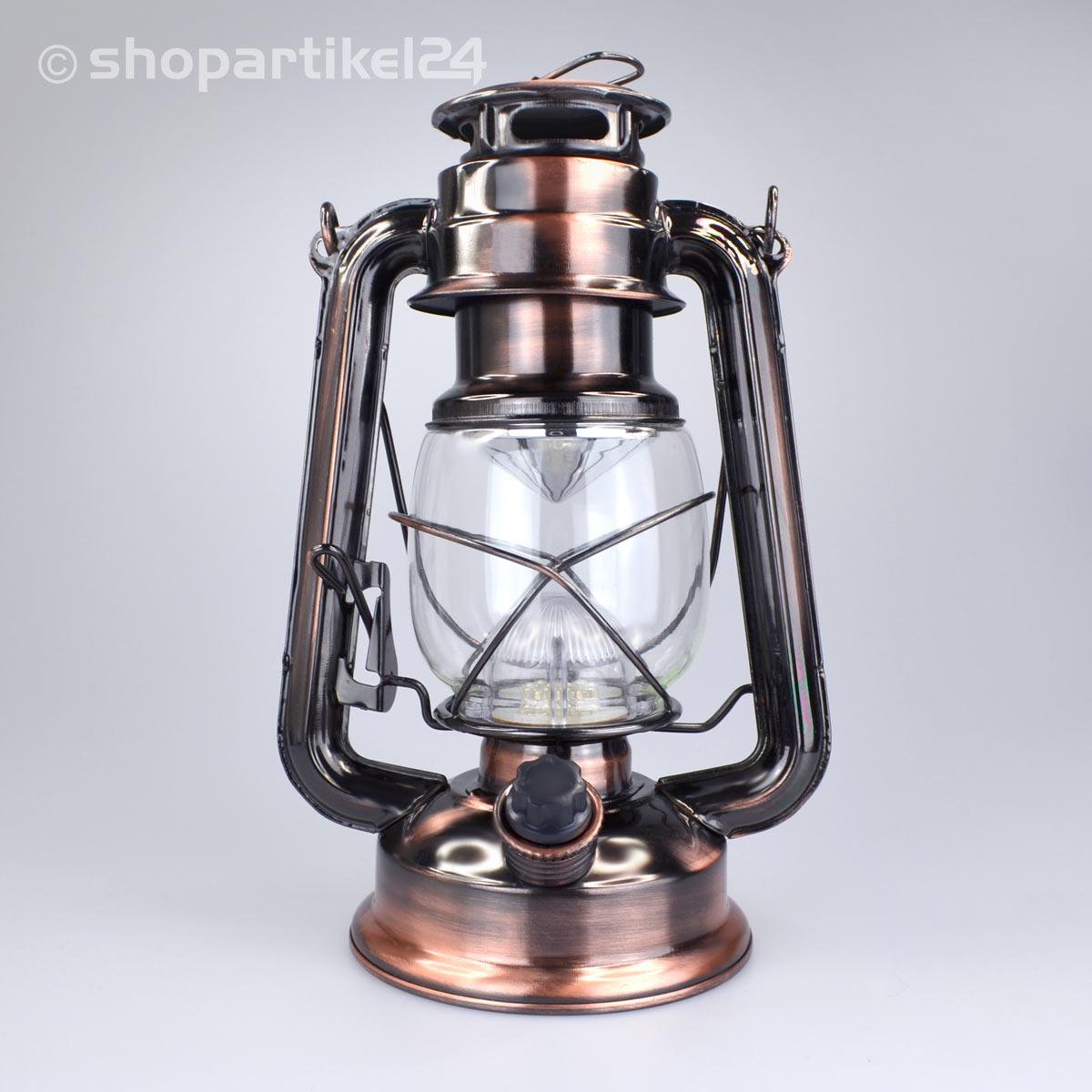 sturmlampe petroleumlampe antik laterne leuchte mit 15 led. Black Bedroom Furniture Sets. Home Design Ideas